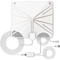 HD Digital Antenna, Indoor TV Antenna, Long Range Amplified HDTV Antenna 60 to 70 Miles with 13.12 Feet Coaxial Cable