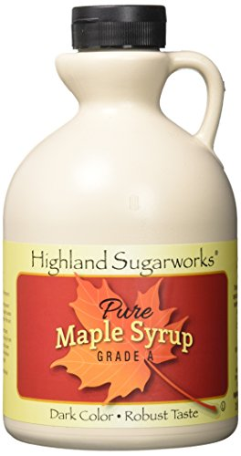 Highland Sugarworks Jug 100% Maple Syrup Pure Grade A Dark Color with Robust Taste 32 oz