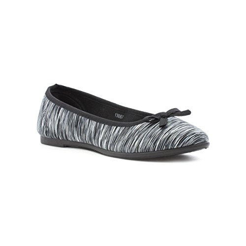 Lilley Womens Multi Space Dye Ballerina with Bow Multicolour 7BNxF
