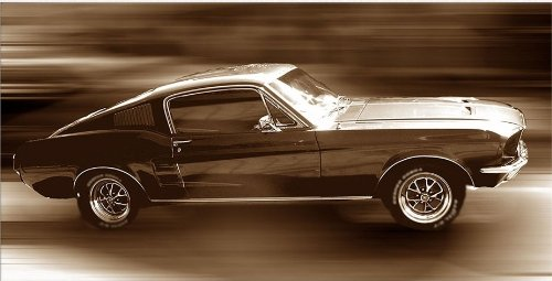 Startonight Canvas Wall Art Ford Mustang, Cars USA Design for Home Decor, Dual View Surprise Artwork Modern Framed Ready to Hang Wall Art 23.62 x 47.2 Inch 100% Original Art Painting! by Startonight