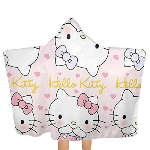 Xzcxyadd Big Beach Towel with Hood & Baby Bath Towel - Hello Kitty Theme Fast Drying Beach Towel for Swim Pool Ultra Absorbent - 51.5 X 31.8 Inch for $<!--$31.99-->