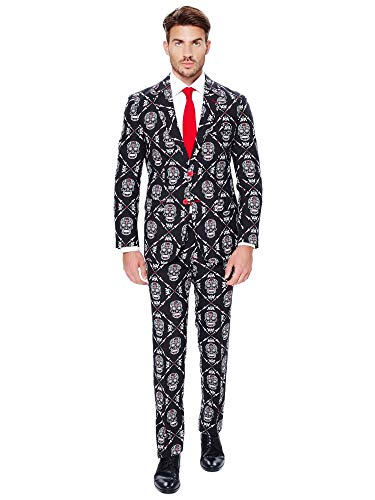 Male Halloween Costumes Do It Yourself (OppoSuits Men's Haunting Hombre-Party Costume Suit,)