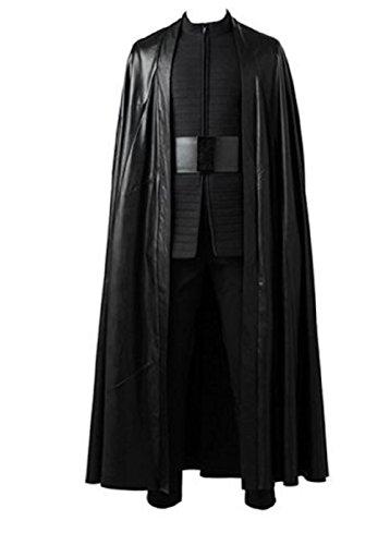 Wolfbar Men's The Last Jedi Kylo Ren Cloak Black Halloween Cosplay Costume Large