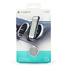 Logitech Trip One-Touch Smartphone Car Mount - Retail Packaging - Polished Chrome