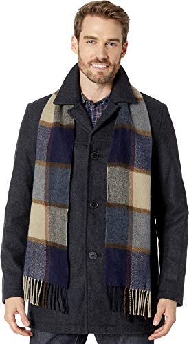 - Tommy Hilfiger Men's Wool Melton Walking Coat with Attached Scarf, Charcoal, L