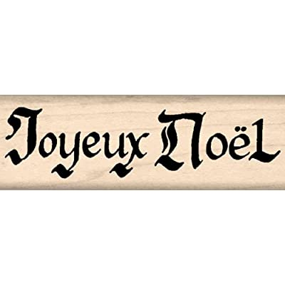 Stamps by Impression Joyeux Noël Christmas Rubber Stamp: Arts, Crafts & Sewing