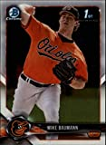#10: 2018 Bowman Chrome Prospects #BCP217 Mike Baumann Baltimore Orioles RC Rookie MLB Baseball Trading Card
