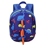 Gotd Baby Boys Girls Kids Cute Pattern Animals Backpack Toddler School Bag (Dark Blue)