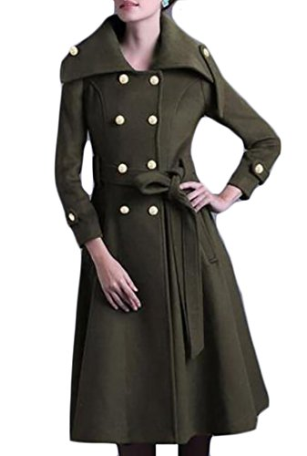 Wool Belted Military Coat - 5