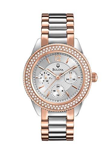 Bulova Women's 98N100XG Quartz Swarovski Crystals Chronograph Two-Tone Bracelet 38mm Watch (Certified Refurbished) -
