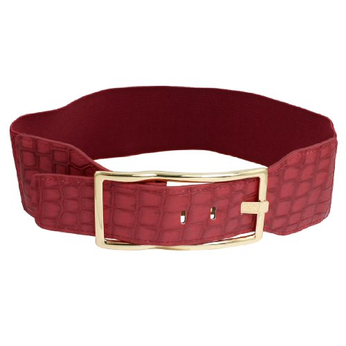 faux-leather-crocodile-print-single-pin-buckle-waist-belt-for-lady