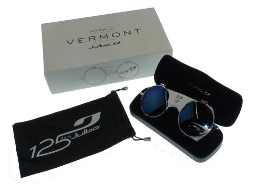 2aca27c072 Julbo Vermont Mythic Classic Glacier Sunglasses - 125 Years Anniversary  Special Edition Model - Silver White Leather  Amazon.co.uk  Sports    Outdoors