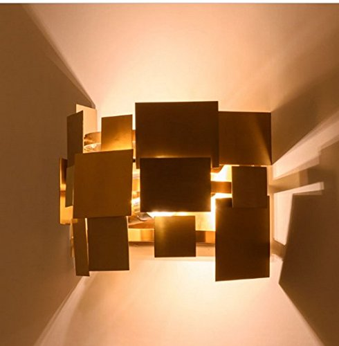 GOWE italy design stainless steel gold modern led wall lamp europe aisle corridor lights living room bedroom wall sconce