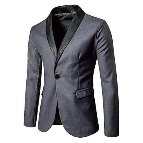 Grigio da Giacche uomo Blazer Coat Tailleur Giacca Coat Laurea Casual Soft nuziale Short Festa Smart moderno Z1gqgd