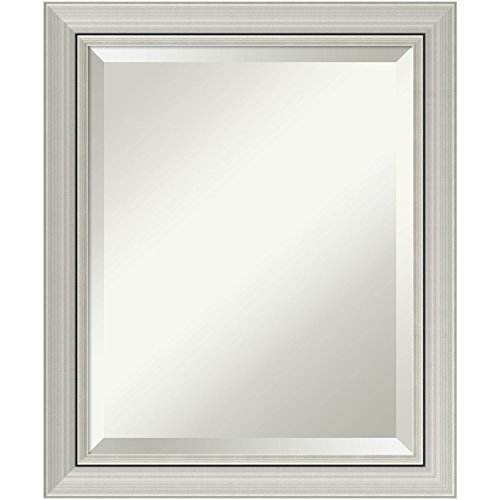 Small Modern Cabinet (Bathroom Mirror Medium,  Romano Narrow Silver: Outer Size 20 x 24