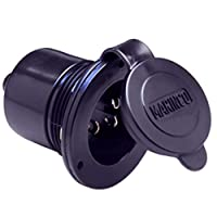 Marinco 150BBI Marine On-Board Charger Inlet Hard Wired 15Amp Black Marine RV Boating Accessories