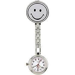 Meta-U Smile Face Clip-on Pendant Nurse Fob Brooch Pocket Watch