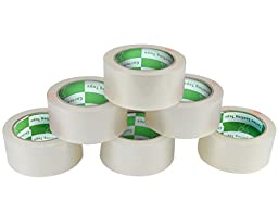 Metronic 6 Rolls 2.0 Mil Thick 2 Inch x 110 YDS (330 Ft) Clear Packaging Sealing Tape