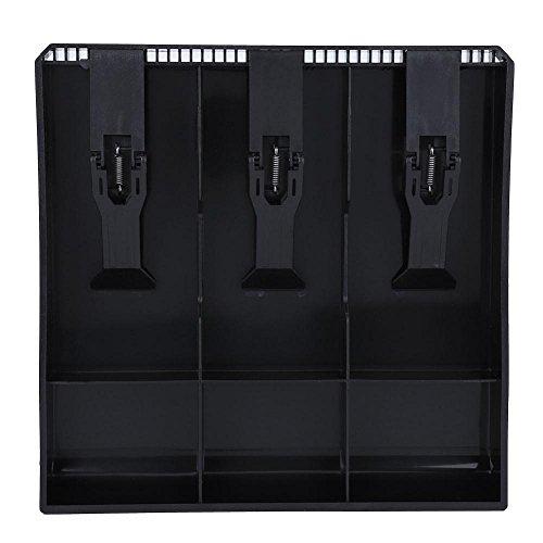 - Cash Drawer Register Insert Tray, Replacement 3 Bills 3 Coins Money Storage Box Plastic 9.6 x 9.6 x 1.4inch Black & White(Black)
