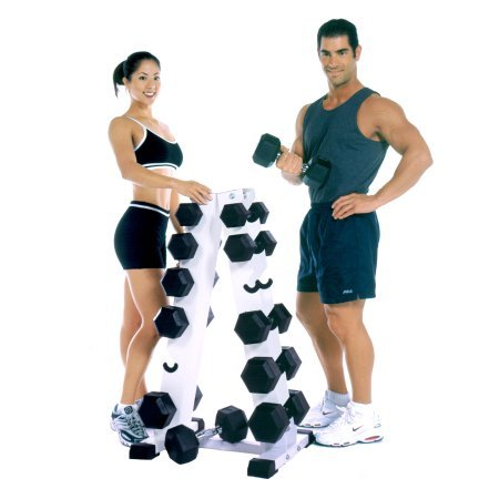 CAP Barbell* White Vertical A-Frame Plastic Dumbbell Rack