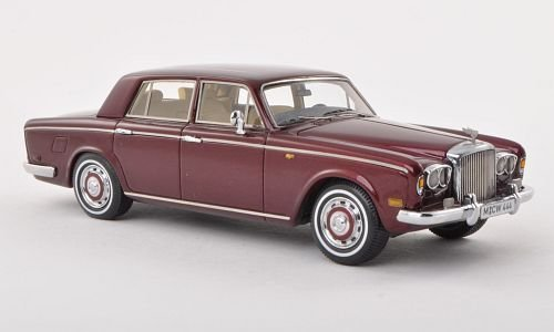 Bentley T1 Saloon, metallic-dunkelrot, 1974, Modellauto, Fertigmodell, Neo Limited 300 1:43