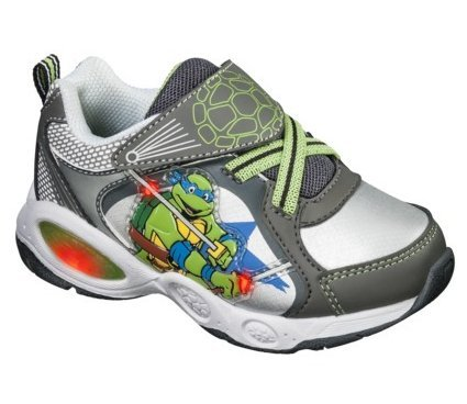 Teenage Mutant Ninja Turtles Light Up Shoes Sneakers Grey