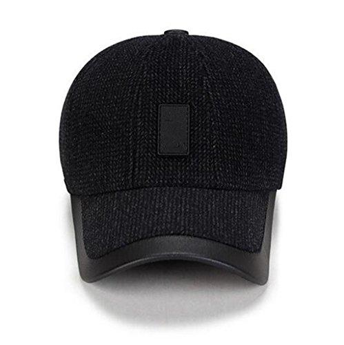 Men's hombres de moda Pac Middle viento Grey el Sombrero oído engrosada de ZHAS Hat el proteger invierno Bloque casual Aged txYgwTR4q