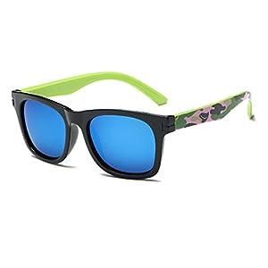 modesoda Kids Polarized Wayfarer Camo Sunglasses for Boys Girls