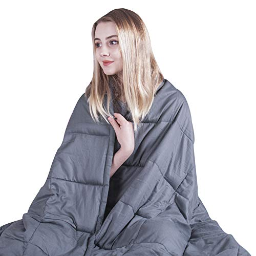COMHO Weighted Blanket Cotton Heavy Blanket 20 lbs,60''x80'',Queen Size