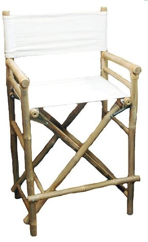 amazon com high bamboo director s chair set of 2 kitchen dining