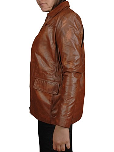 No Brand The Hunger Games Movie Jennifer Lawrence Katniss Everdeen Real Women Leather Jacket (XXXL-Suitable For 52