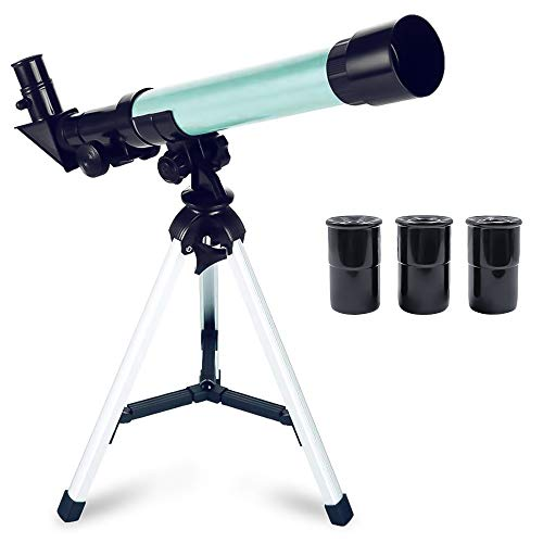 ToyerBee Telescope for Kids Educational Preschool Science Telescope Plastic Toy for Beginners My First Telescope 3 Magnification Eyepieces and Tripod Enjoy Steady Observation of Astronomy from ToyerBee