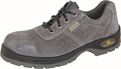 Delta plus calzado - Zapato perforada serraje gris poliuretano bidensidad s1-p talla 41