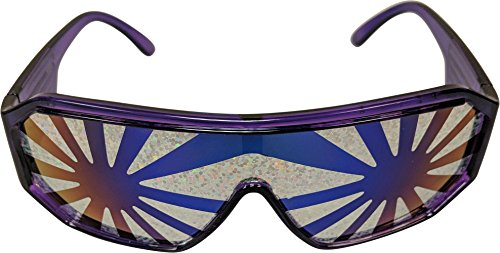 Macho Man Randy Savage Purple Frame Silver Burst See Through Party Sunglasses