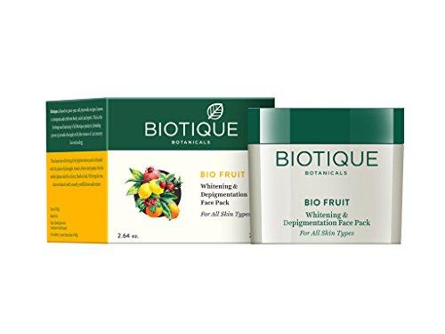 (Biotique Fruit Whitening & Depigmentation Face Pack 75G/2.65 Fl.Oz.)