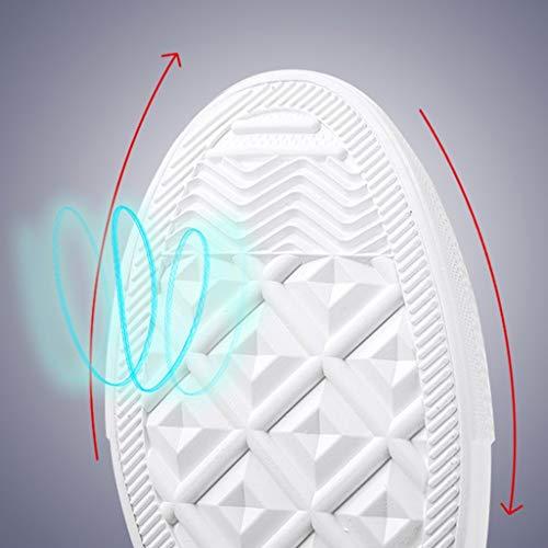 di Bianca traspirante selvatici da WangKuanHome estate Scarpe scarpe Color scarpe Size uomo bordo tendenza tela uomo Bianca 42 di scarpe da tela casual Hvqf7n