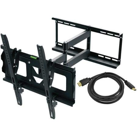 "Full Motion TV Wall Mount Kit And HDMI Cable For 19"" - 70"" Displays"