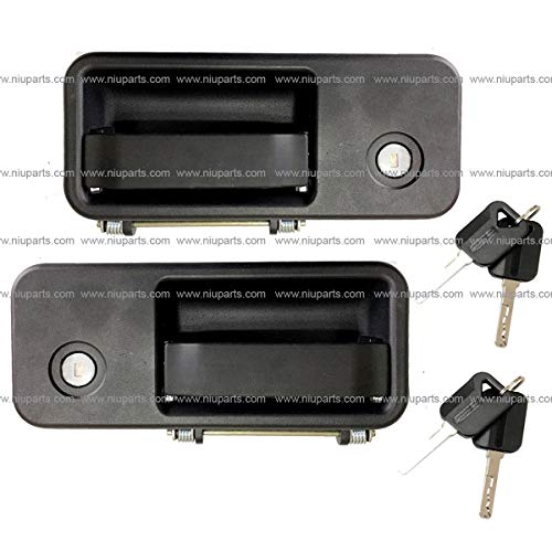 - Exterior Cabin Door Handle With Lock and 2 Keys - Driver and Passenger Side (Fit: Volvo VNL 630 670 730 780 680 Trucks 2005-2018)