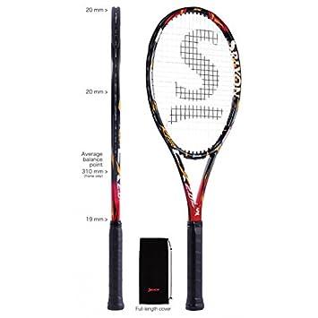 best service 93b7e 7d8d3 High Speed Tennisschläger für Damen und Herren I Premium Tennisausrüstung  Srixon Revo CX 2.0 Tour Sharp Black I Tennisartikel Schläger Tennisracket I  ...