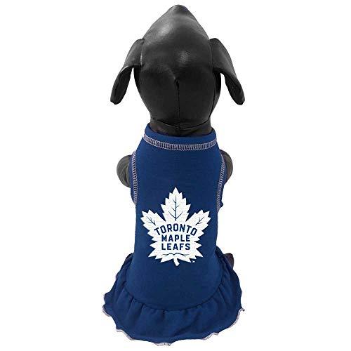 NHL Toronto Maple Leafs Dog Cheerleader Dress, Small, Royal ()