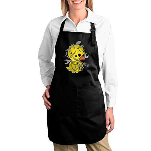 FOECBIR Funny Chick Magnet Canvas Kitchen Chef Bib with Pocket Adjustable for Cooking