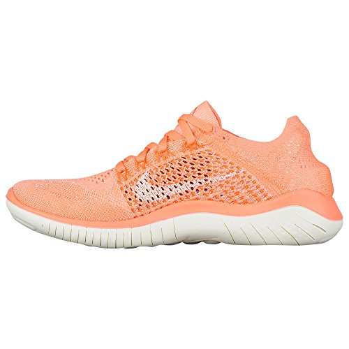 Nike Womens Free Rn Flyknit 2018 Nylon Scarpe Da Corsa Crimson Pulse / Vela / Iper Cremisi / Nero