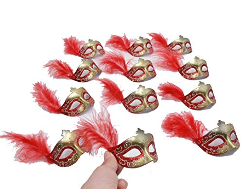 Yiseng Mini Masks Party Decoration 12pcs Masquerade Venetian