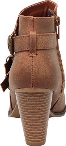 Select Strap Tan Ankle Buckle Booties Heel Chunky Block Cambridge Women's fqZdPwq6