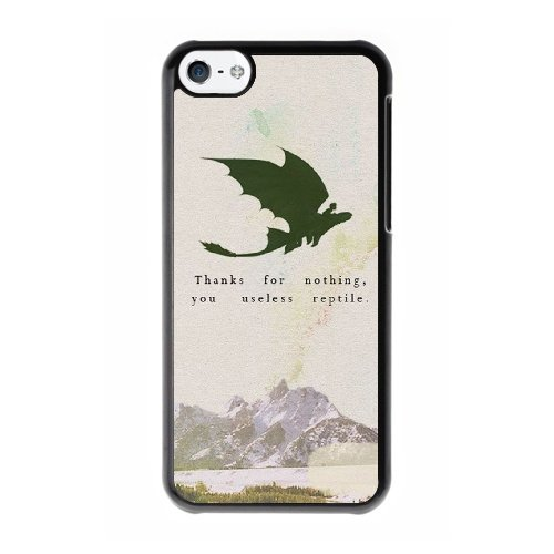 Coque,Coque iphone 5C Case Coque, Train Your Dragon Quotes Cover For Coque iphone 5C Cell Phone Case Cover Noir