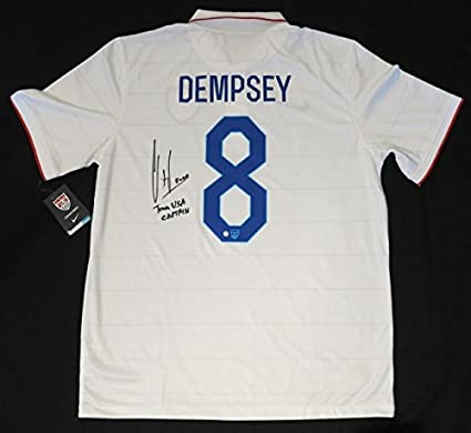 61a0c81fc86 Image Unavailable. Image not available for. Color  Clint Dempsey Autographed  Soccer Jersey ...