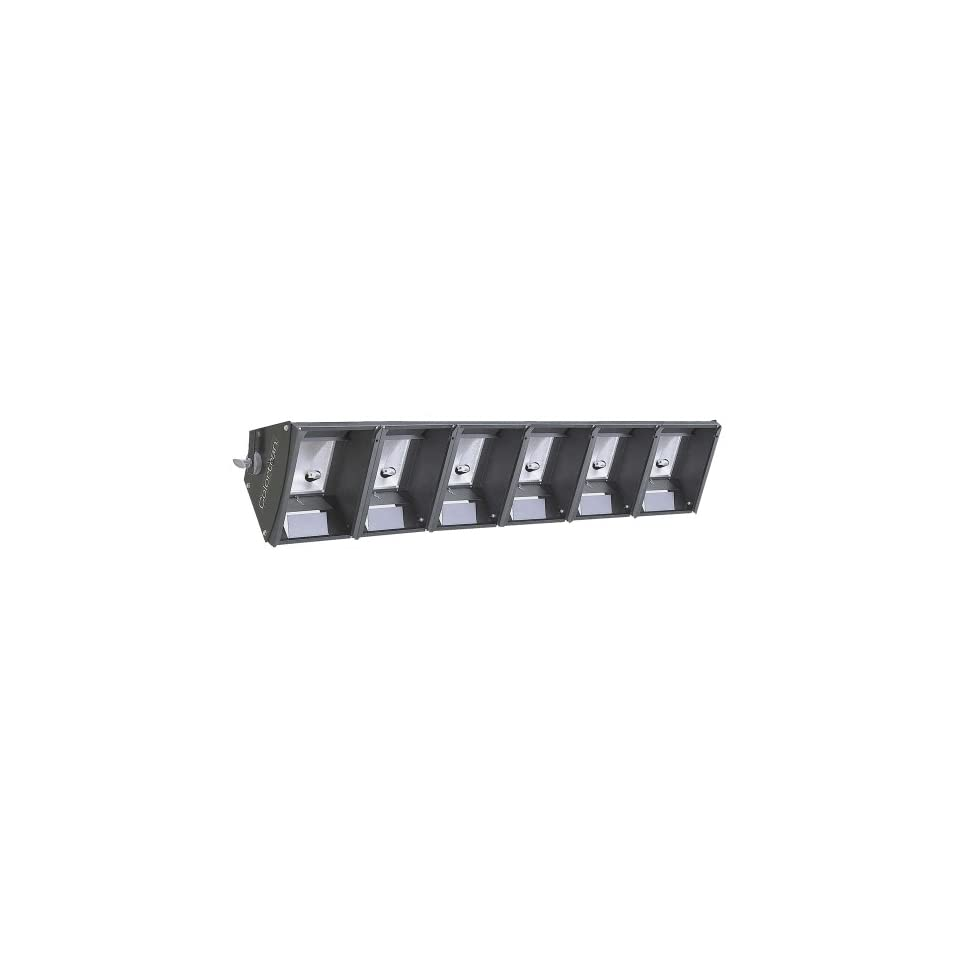 Leviton CS6C3 42B Six Light Cyc Strip 3 Circuit with Six 3 Foot Cords Terminated with Edison, Black