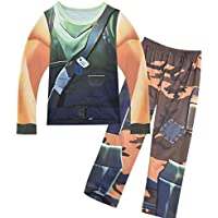 Boys' 2 Piece Long Set Pajamas PJS Clothing Sets Sleepwear Game Cosplay Children Costumes