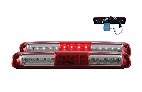 06 Tail Light Lamp - SPPC Red/Clear LED 3rd Brake Lights For Chevy Silverado : GMC Sierra - Cargp Tail Lamp