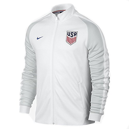(Nike N98 USA Authentic Track Soccer Jacket (Large) White)
